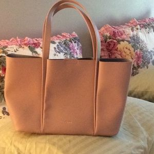 CMG leather tote
